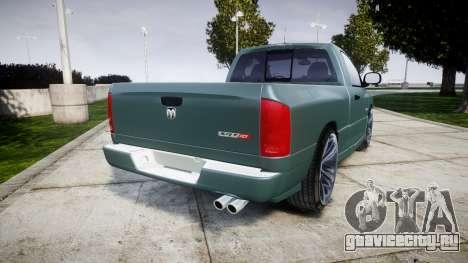 Dodge Ram для GTA 4 вид сзади слева