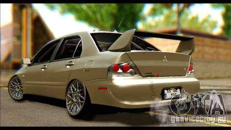 Mitsubishi Lancer Evolution IX JDM для GTA San Andreas вид слева