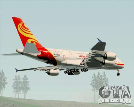 Airbus A380-800 Hainan Airlines для GTA San Andreas вид сзади