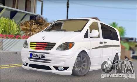 Mercedes-Benz Vito Vip для GTA San Andreas
