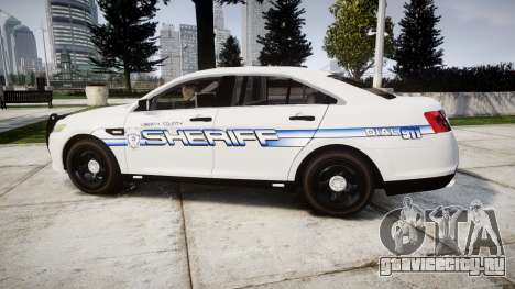 Ford Taurus 2014 [ELS] Liberty County Sheriff для GTA 4 вид слева