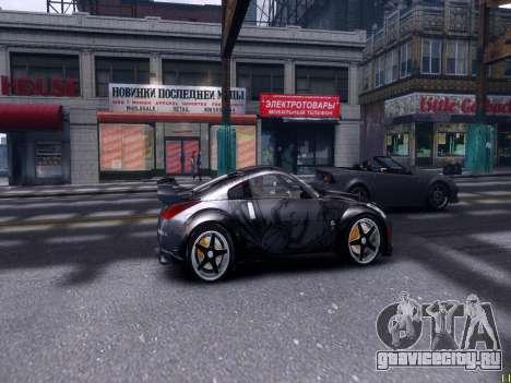 Nissan 350Z Tokyo Drift для GTA 4 вид сзади