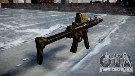 Пистолет-пулемёт MP5SD EOTHS FS c target для GTA 4 второй скриншот