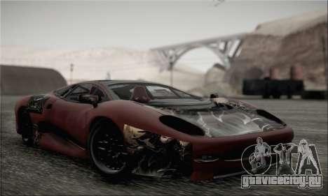 Jaguar XJ220S Ultimate Edition для GTA San Andreas вид сбоку