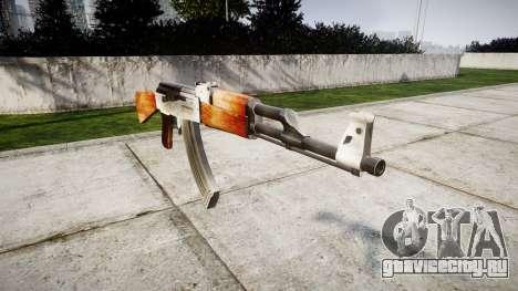 Автомат АК-47 HD для GTA 4