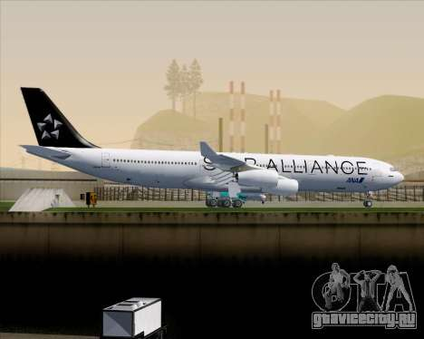 Airbus A340-300 All Nippon Airways (ANA) для GTA San Andreas вид сзади