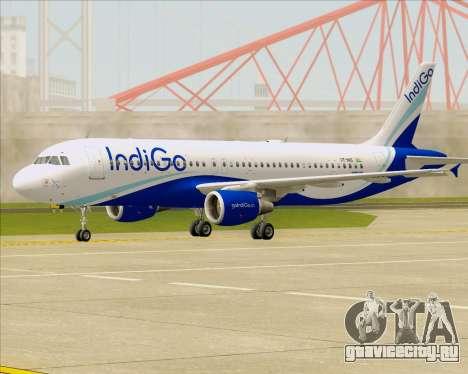 Airbus A320-200 IndiGo для GTA San Andreas вид слева