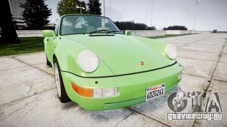 Porsche 911 (964) Cabrio для GTA 4
