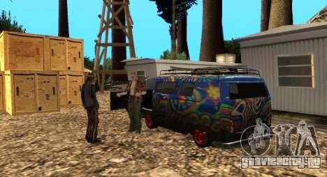 Лагерь Altruist на горе Чилиад для GTA San Andreas третий скриншот
