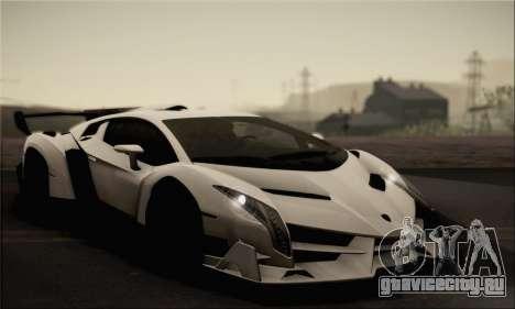 Lamborghini Veneno LP750-4 White Black 2014 для GTA San Andreas