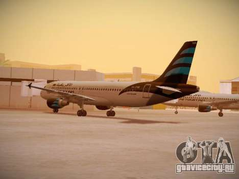 Airbus A320-214 Afriqiyah Airways для GTA San Andreas вид справа