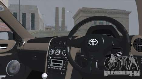 Toyota Altezza (RS200) 2004 (АПП) для GTA San Andreas вид сзади слева
