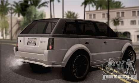 Vapid Huntley для GTA San Andreas вид слева