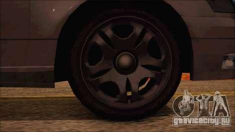 GTA 5 Intruder для GTA San Andreas вид сзади слева