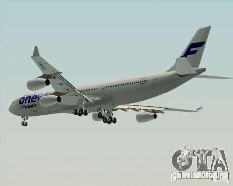 Airbus A340-300 Finnair (Oneworld Livery) для GTA San Andreas колёса
