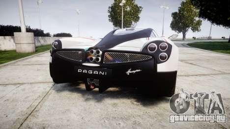 Pagani Huayra 2013 для GTA 4 вид сзади слева