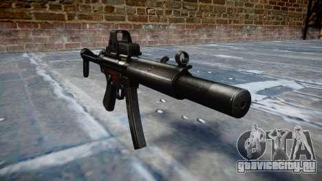 Пистолет-пулемёт MP5SD EOTHS FS b target для GTA 4