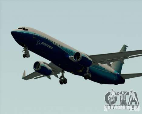 Boeing 737-800 House Colors для GTA San Andreas вид изнутри