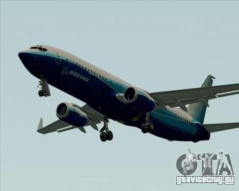 Boeing 737-800 House Colors для GTA San Andreas вид изнутри