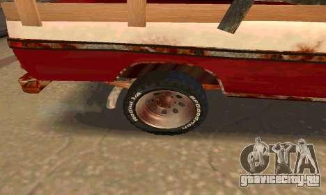 Ford PickUp Rusted для GTA San Andreas вид сзади