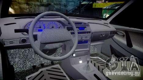 ВАЗ-2113 на пневме для GTA 4 вид изнутри
