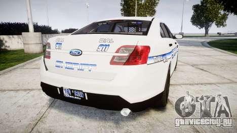 Ford Taurus 2014 [ELS] Liberty County Sheriff для GTA 4 вид сзади слева