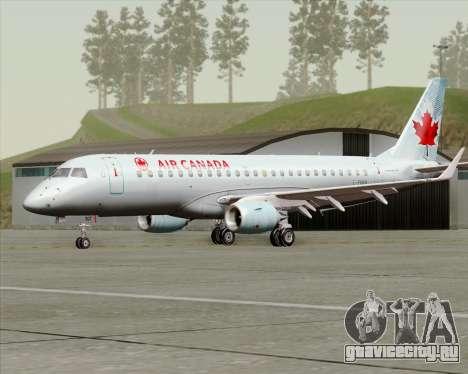 Embraer E-190 Air Canada для GTA San Andreas вид слева