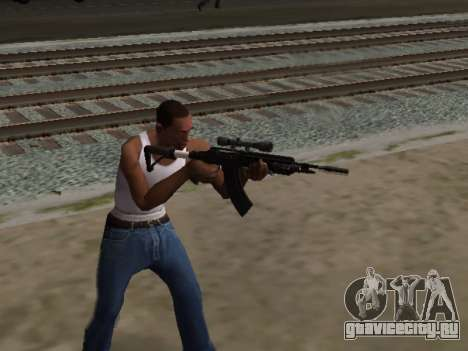 Heavy Sniper Rifle from GTA V для GTA San Andreas третий скриншот