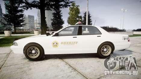 GTA V Vapid Police Cruiser Rotor [ELS] для GTA 4 вид слева