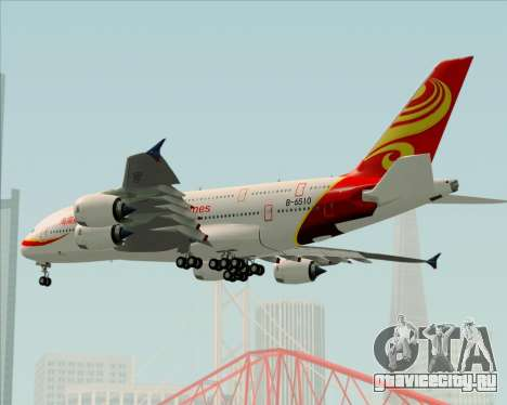 Airbus A380-800 Hainan Airlines для GTA San Andreas вид сверху