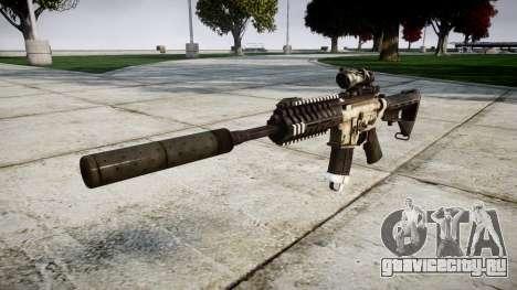 Автомат P416 ACOG silencer PJ1 target для GTA 4