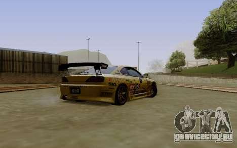 Nissan Silvia S15 NGK Motorsport для GTA San Andreas вид слева