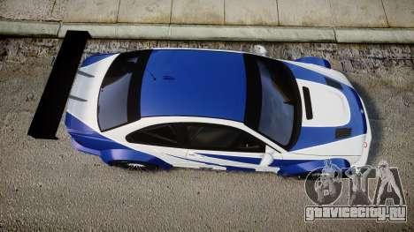 BMW M3 E46 GTR Most Wanted plate NFS ND 4 SPD для GTA 4 вид справа