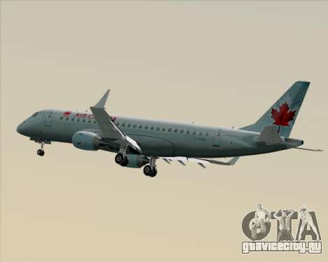 Embraer E-190 Air Canada для GTA San Andreas вид изнутри
