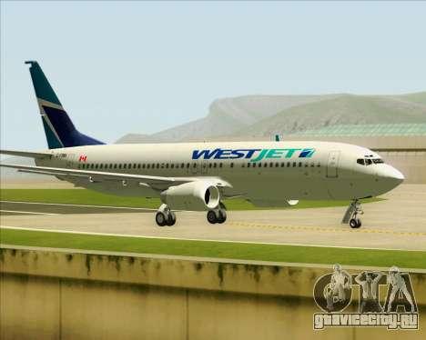 Boeing 737-800 WestJet Airlines для GTA San Andreas вид сбоку