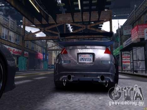 Nissan 350Z Tokyo Drift для GTA 4 вид сзади слева