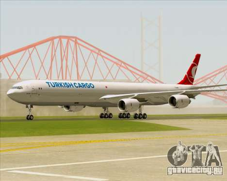 Airbus A340-600 Turkish Cargo для GTA San Andreas вид слева