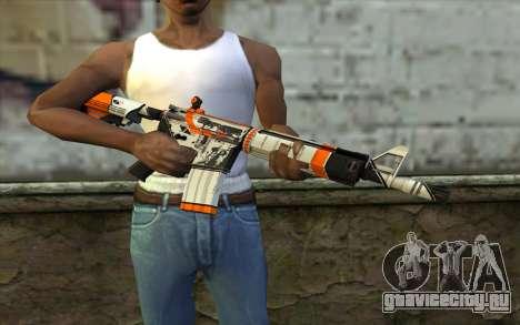 M4A4 from CS:GO для GTA San Andreas третий скриншот