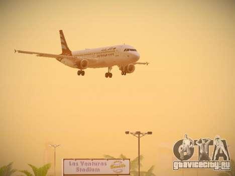 Airbus A320-214 Afriqiyah Airways для GTA San Andreas вид сверху