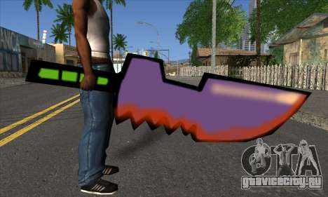 Мультяшный меч для GTA San Andreas третий скриншот