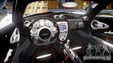 Pagani Huayra 2013 для GTA 4 вид изнутри