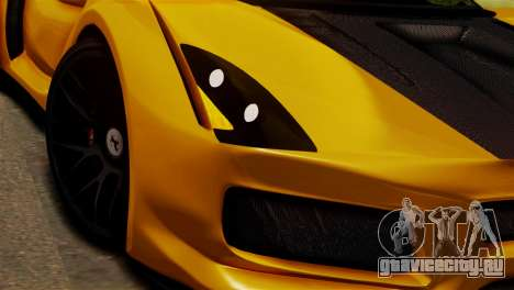 Ferrari Velocita 2013 SA Plate для GTA San Andreas вид сзади слева
