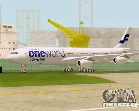Airbus A340-300 Finnair (Oneworld Livery) для GTA San Andreas вид слева