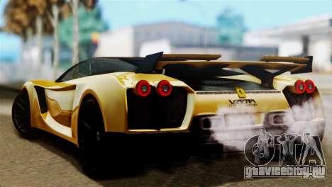 Ferrari Velocita 2013 SA Plate для GTA San Andreas вид слева