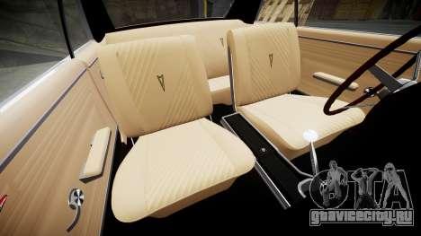 Pontiac GTO 1965 Sharpie для GTA 4 вид изнутри