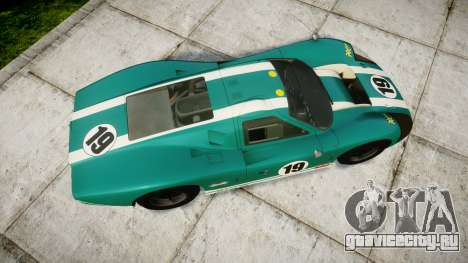 Ford GT40 Mark IV 1967 PJ Schila Racing 19 для GTA 4 вид справа