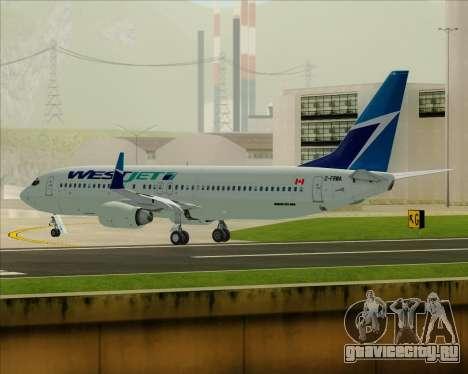 Boeing 737-800 WestJet Airlines для GTA San Andreas вид снизу