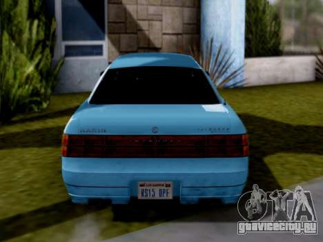 GTA V Intruder для GTA San Andreas вид справа