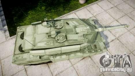 Leopard 2A7 EU Green для GTA 4 вид справа