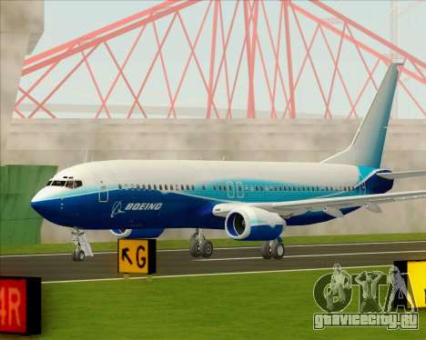 Boeing 737-800 House Colors для GTA San Andreas вид сбоку